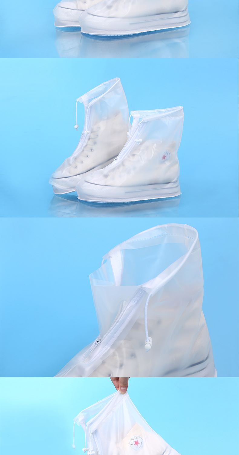 18 Newest Reusable Unisex Waterproof Protector Shoes Boot Cover Rain Shoe Covers High-Top Anti-Slip Shoe Cover 10