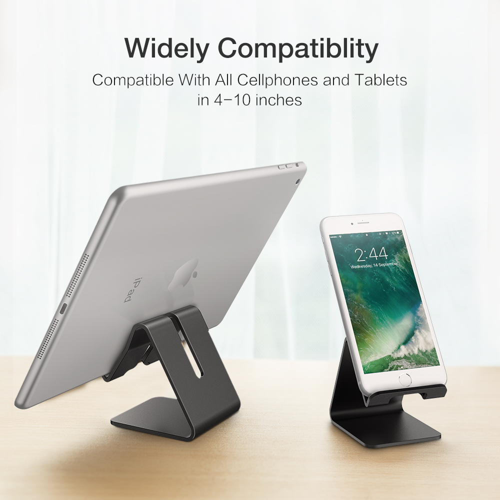 Aerdu Aluminum Metal Mobile Phone tablet Holder Universal Non slip silicone Stand Desk for iPhone7 X 8P Pad For SamsungS7 S8 S9|Tablet Stands| |  - title=