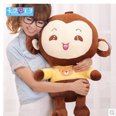 ФОТО Stuffed animal 65 cm loves monkey plush toy throw pillow sweet monkey doll surprised gift w3763