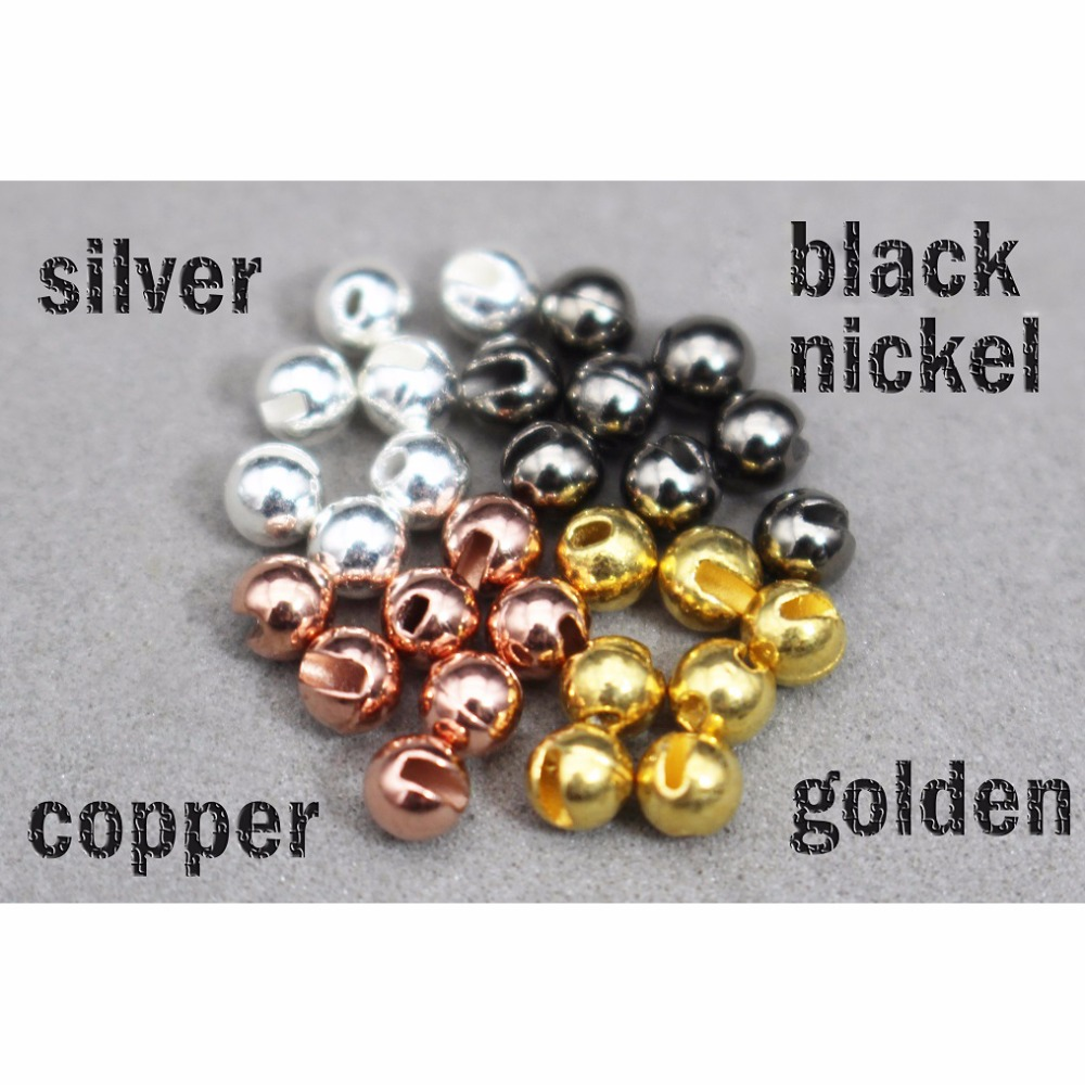 FREE SHIPPING 3.3 mm  Tungsten Fly Tying  Beads Gold 100 pc