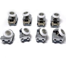 8 x Top Bottom Single Shower Rollers/Runners Replacements 23mm/25mm wheel diameter