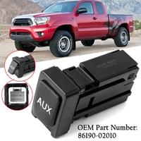 Car Auxiliary Aux Stereo Adaptor Plastic Black Universal Fits for Toyota Corolla Tacoma Tundra RAV4 86190 02010