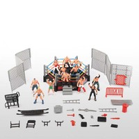 High Quality Classic Wrestling Gym Sport Club Model The Wrestler Athlete Figure Building Wrestler Arena Model