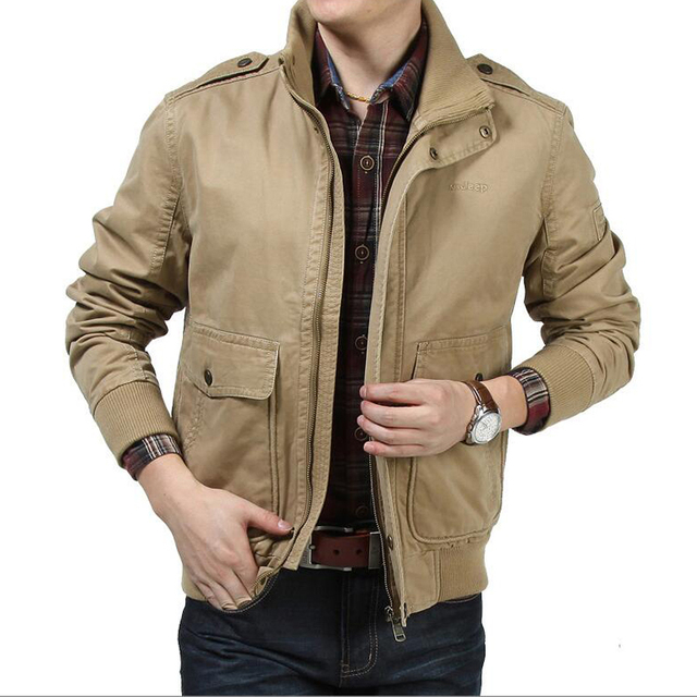 """Высокого качества для мужчин куртка 2017 весна осень новый бренд хлопок мужские куртки деловой случай пальто brand Clothing куртка """"пилот"""""""