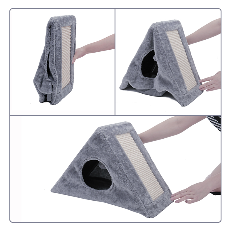 Funny Cat scratch board Natural Cat Caught Cat Funny Toy Cat Gray Crawler Tree Scratched Scissors Tree Small House in Furniture Scratchers from Home Garden