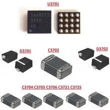 5 セット/ロット ic チップダイオードコンデンサ U3701 D3701 D3702 C3702 C3725 C3721 C3704 iphone 7 7 プラス 7p 7 + 薄暗いなしの led バックライト修正キット