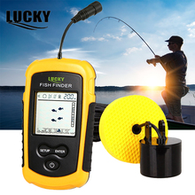 LUCKY Fish Finder Sonar for Fishing Fishfinder 100m Depth Ice Fishing Echo Sounder Fish Sonar Sensor FF1108-1