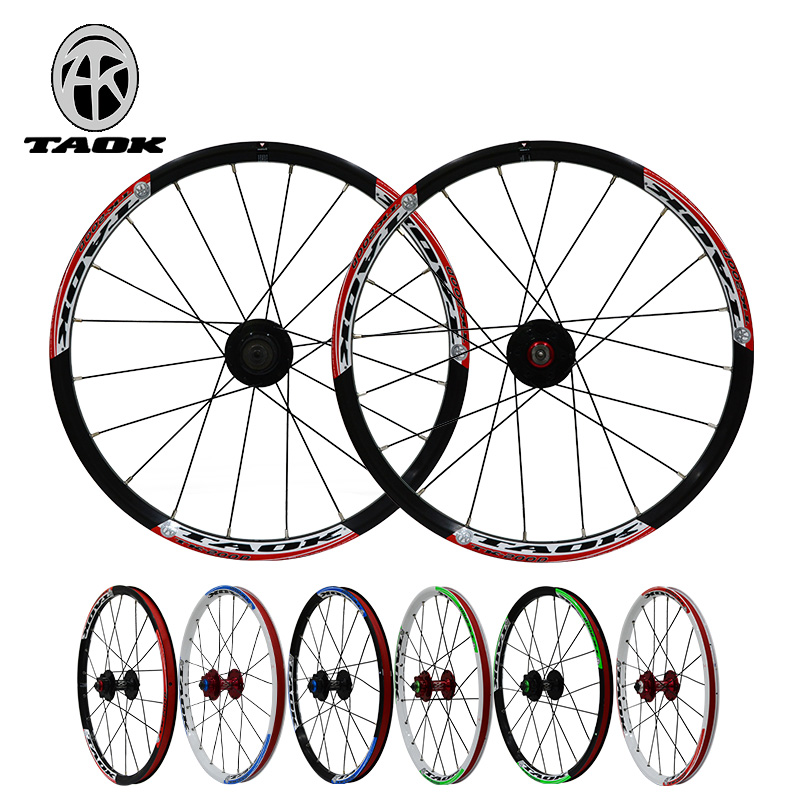 20 inch 406 bike wheel mountain bike/Folding bicycles/BMX bicycle bicycle wheel Disc Brake Aluminum Alloy wheel set aluminum alloy bicycle crank chain wheel mountain bike inner bearing crank fluted disc mtb 104bcd bike part