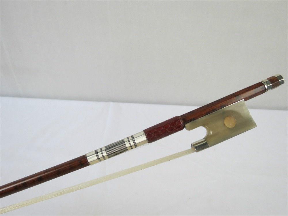 1 Pz Forte Equilibrio Professionale Snakewood Violin Bow 4/4, Rame Montato Da Processo Scientifico