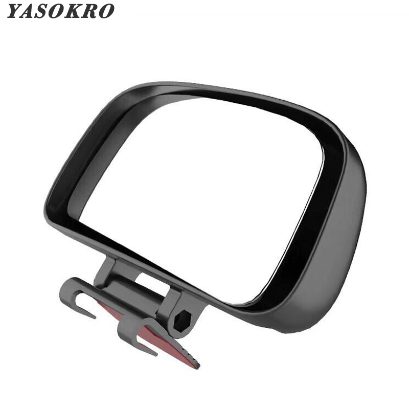 YASOKRO Rotation Adjustable Rear View Mirror Wide Angle Lens Car Blind Spot Mirror For Parking Auxiliary Free Shipping