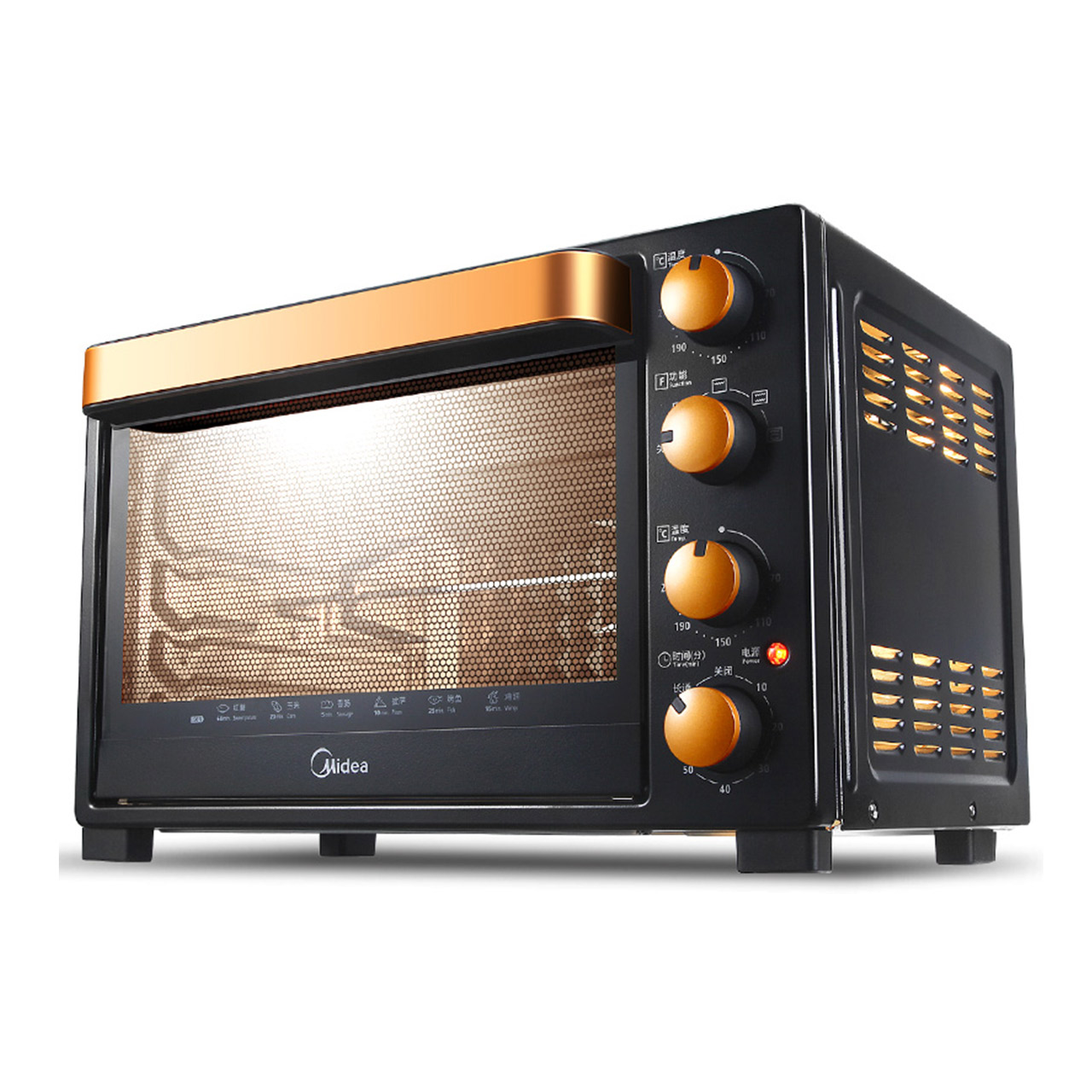Midea 32L High Capacity Multi-function Electric Oven Home Baking Cake Toaster T3-L326B free shipping large electric oven home baking 38 liters capacity