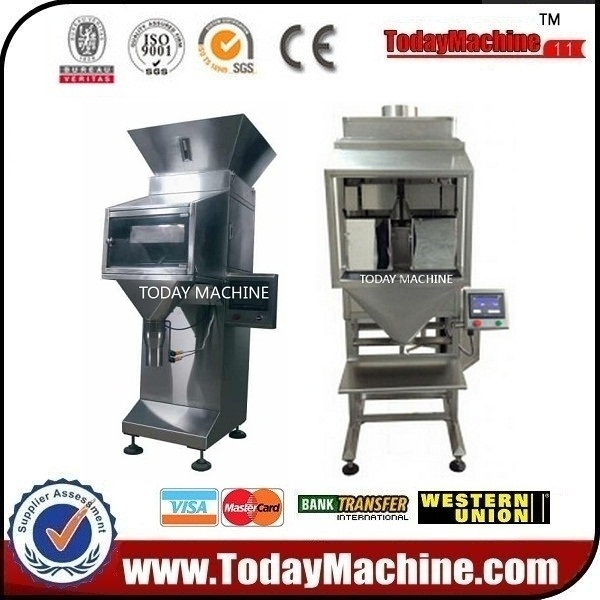 Double heads weighing granule filling machine