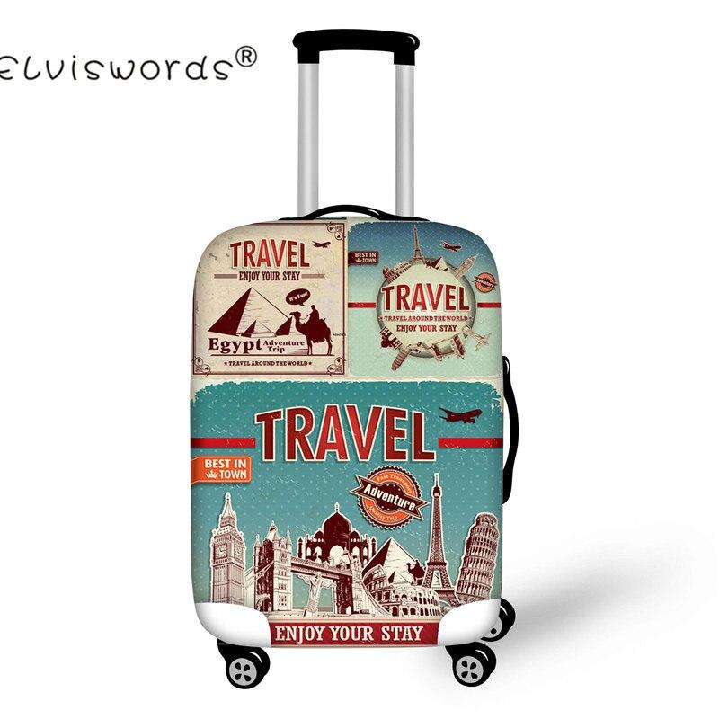 ELVISWORDS путешествия на дороге плотные эластичные Чемодан сумки для 18-30 дюймов Чемодан защитные чехлы чемодан тележка дело чемодан