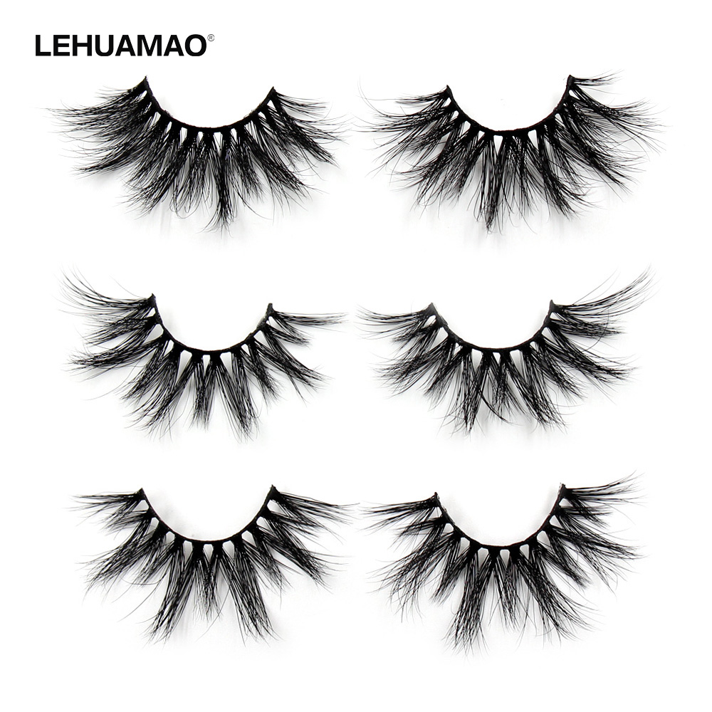 90f7840e564 Detail Feedback Questions about LEHUAMAO 25mm Eyelashes 5D Mink False  Eyelashes Crisscross Strands Cruelty Free High Volume Mink Lashes Soft  Dramatic Eye ...