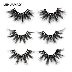 Image 1 - LEHUAMAO 25mm Eyelashes 5D Mink False Eyelashes Crisscross Strands Cruelty Free High Volume Mink Lashes Soft Dramatic Eye lash