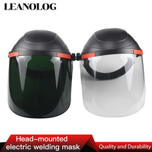 Welding Cap shield Helmet welder Mask Welding Protective Cap Welding Glasses UV Resist Welding Tools head mounted welding helmet black against ultraviolet ray protective mask pc safety headgear face shield mask glasses