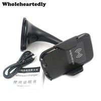 10W Schnelle Ladung QI Auto Drahtlose Ladegerät Fahrzeug Dock Telefon Sucker Halter Für iPhone X XR 11 8 Plus samsung Galaxy S8 S7 S6 Rand