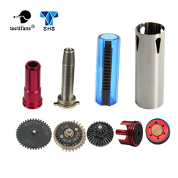 TACTIFANS 13:1 Gear Set, Cylinder Piston/head, Spring Guide, Nozzle, clear 14 Teeth Piston Inner Barrel 363-460mm  AK M4 AEG