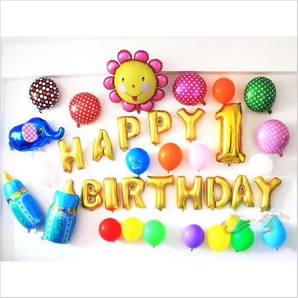 13pcs/lot Happy Birthday balloons Party Decoration Letters Alphabet Aluminum Helium balloon Foil Baloon Baby kids air Balloons