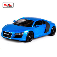Maisto 1:24 Audi R8 Diecast Model Car Toy Black Blue New In Box Free Shipping(China)