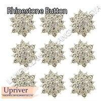 Wedding Invitation 100pcs Flat Back Crystal Rhinestone Button For Hair Flower Rhinestone Applique Accessories