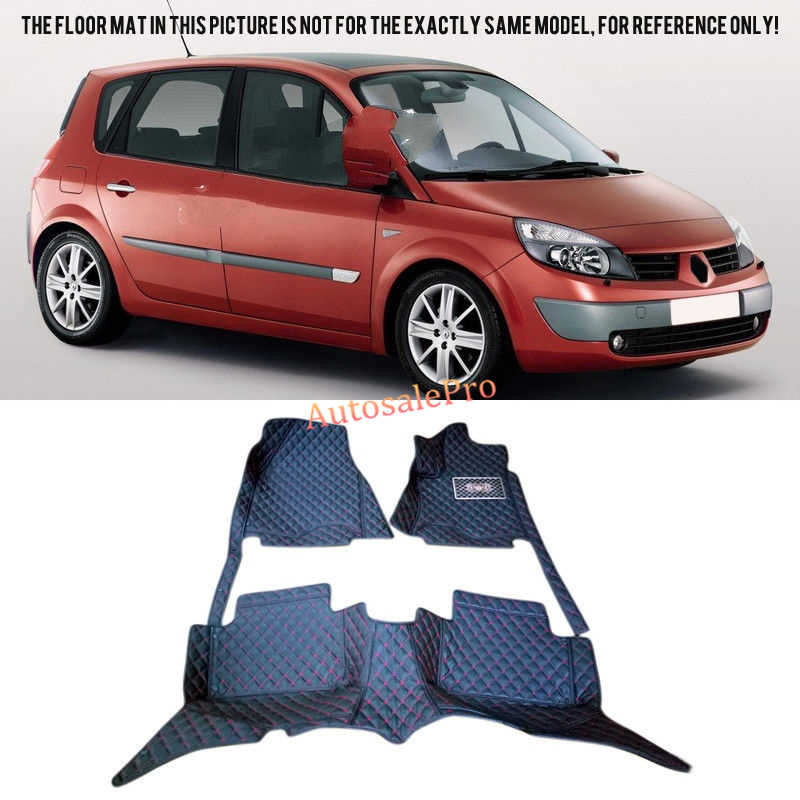 Right & Left Hand Drive Interior front rer Car Floor Mat carpets Pad cover For Renault Scenic II 2004 2005 2006 07 08 2009