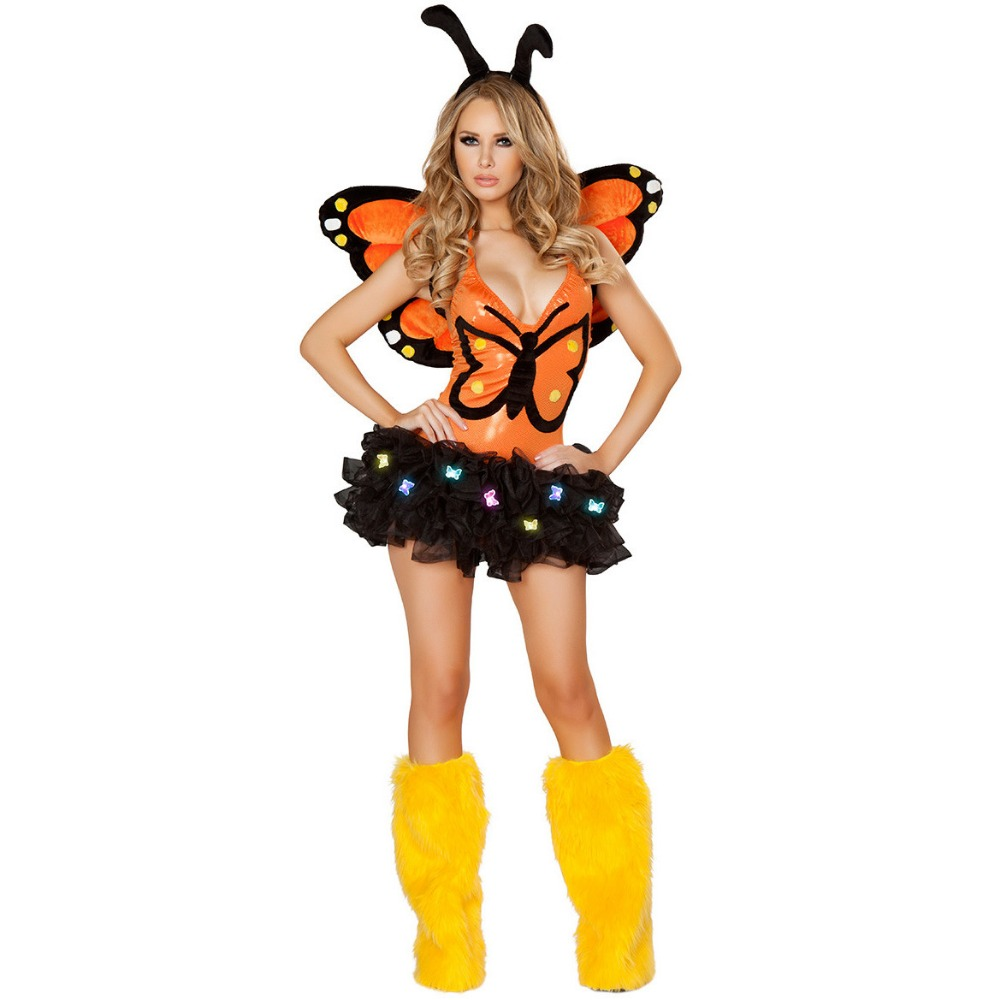 Elf butterfly Fairy Cosplay Costume Halloween Sexy animal cosplay costume Jumpsuits women adult cos animal costume Body Suit