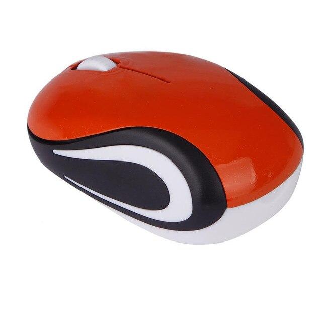 Лучшая цена милый мини 2,4 ГГц беспроводной оптическая мышь Мыши компьютерные для портативных ПК тетрадь May26 2,98