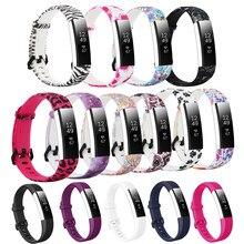 Honecumi Accessoreis Para Fitbit Alta Bandas Simples e Cores Florais Para Fitbit Alta HR HR/Alta Pulseira De Fitness Para dos Homens das mulheres