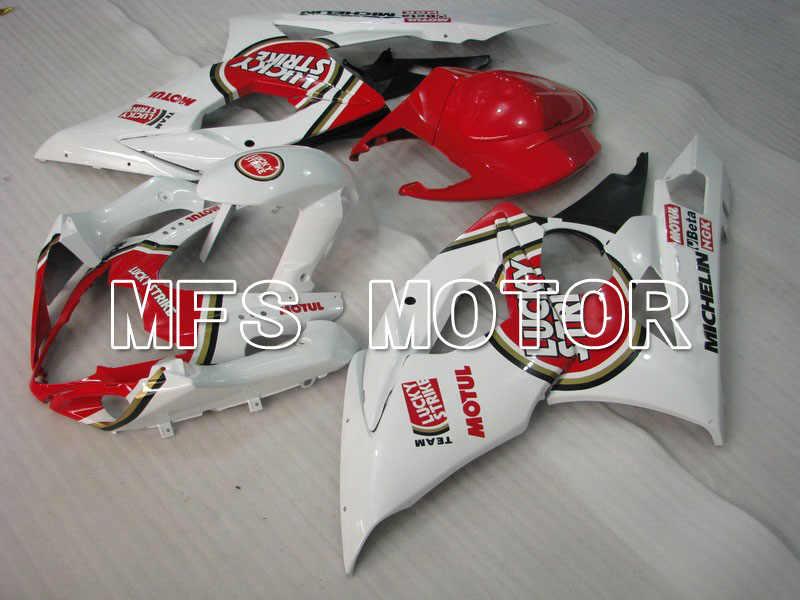Форма для Suzuki GSXR 1000 K5 2005 2006 Инжекционный обтекатель антиблокировочной системы Наборы GSXR1000 K5 05 06-Лаки Страйк-белый/красный