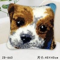 Animal owl dog bear Cartoon Latch Hook kits pillow cover hand craft embroidery DIY Crocheting handmade needlework supplies
