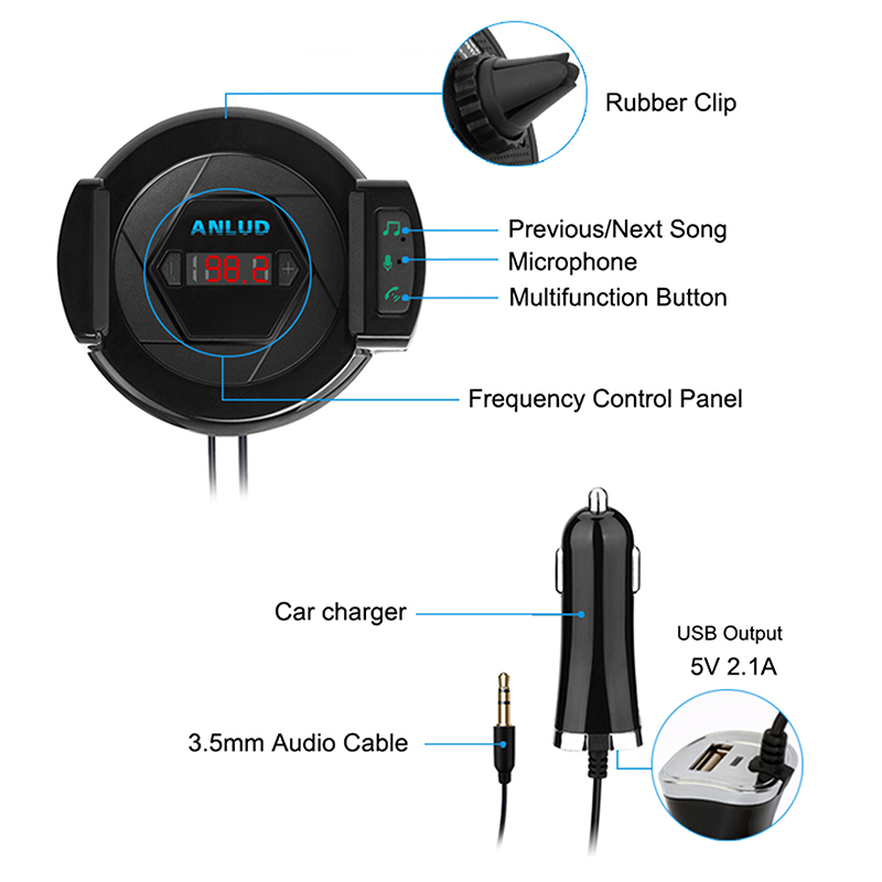 car phone holder fm transmitter (5)