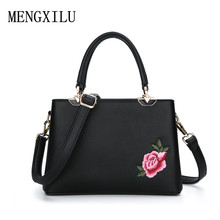 Фотография Embroidery Floral Luxury Ladies Handbags Women Designer Pu Leather Bags Famous Brand Women Crossbody Bags Female Shoulder Bag