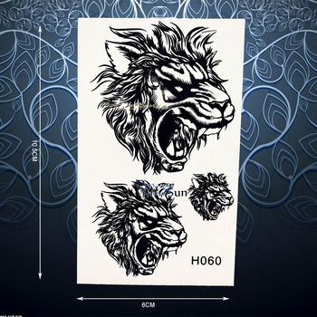 Unique Roaring Tiger Lion Tattoo Sticker For Women Men Body Art Arm Chest Decals Waterproof Fake Temporary Tattoo Stickers PH060 iphone 6