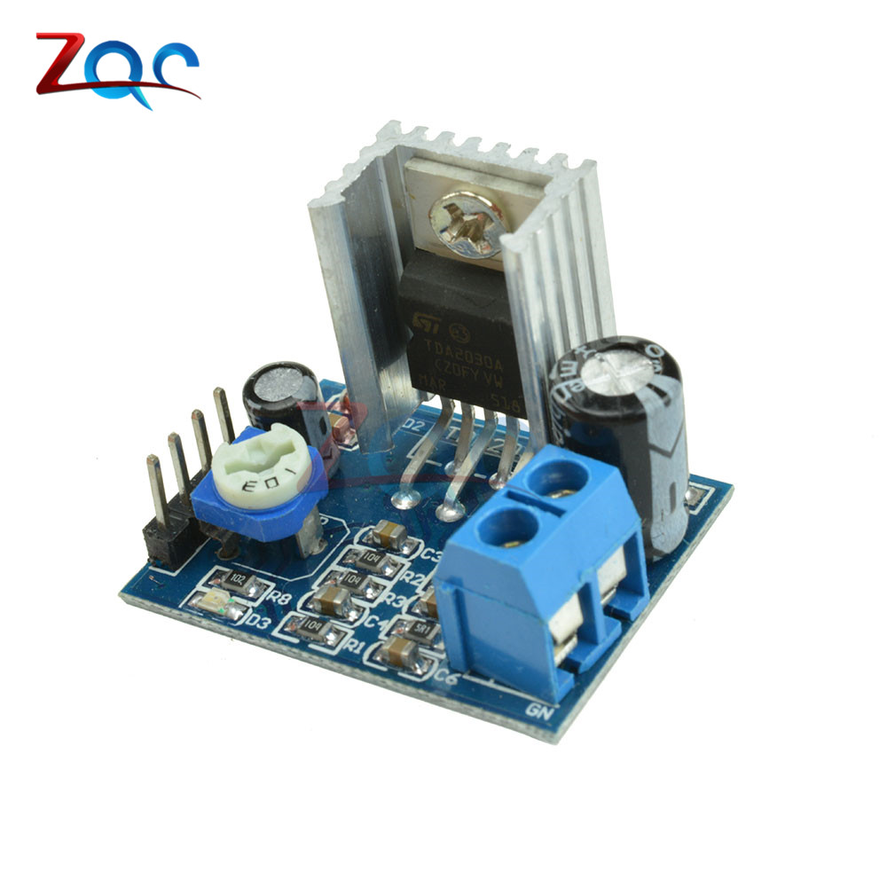 Audio Amplifier Diy Kit TDA2030A TDA2030 Audio Amplificador Board Kit AMP Single Power Supply Module Electronics 6-12V