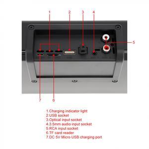 Image 5 - BS 39A built in microfone bluetooth soundbar alto falante com qi sem fio de carregamento e display led inteligente para telefone/pc/tv