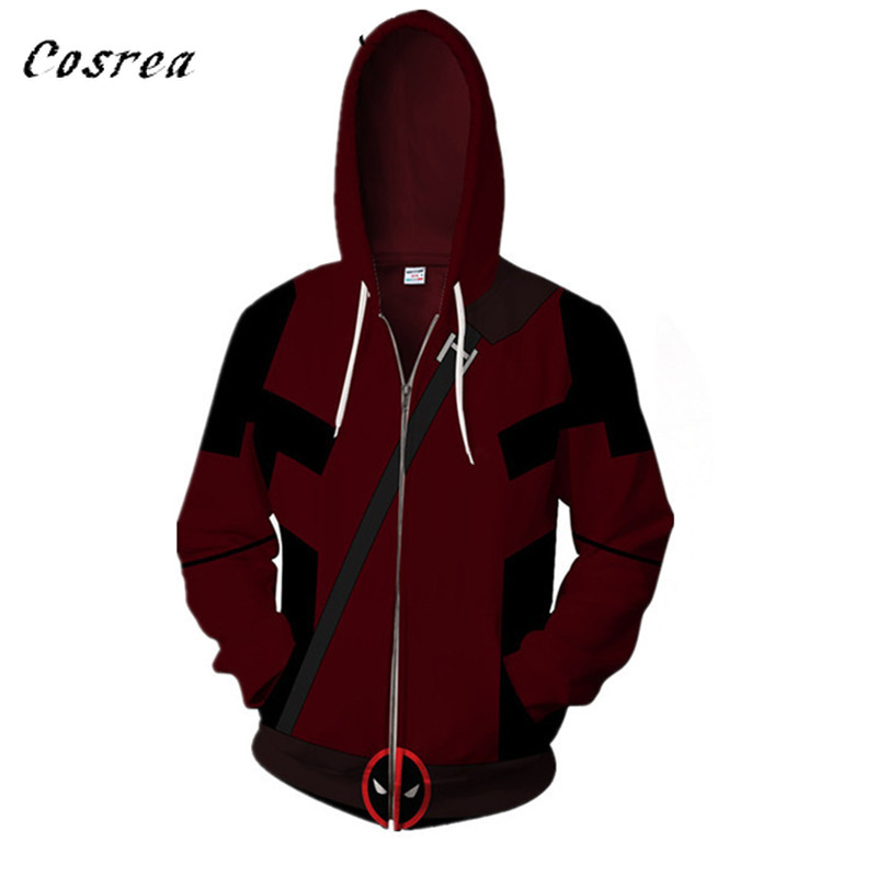2019 New 3D Printed Movie Superhero Deadpool 2 Men Women Hoodie Casual Pullover Hoodies Sweatshirts Streetwear Jacket Hip Hop