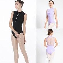 Gymnastics Leotard Adult 2018 New Design High Quality Zipper Sexy Lace Ballet Dress Leotards For Women Purple