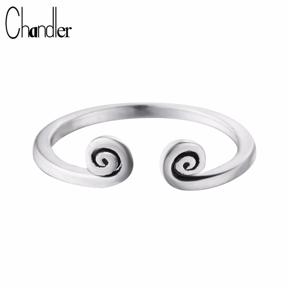 Jewelry & Accessories Chandler Brand New Silver Black Vintage Monkey Tight Hoop Pattern Rings For Women Wholesale Fashion Thai Jewelry