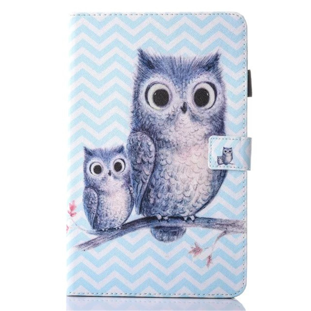 T580 T585 Case For Samsung Galaxy Tab A 10.1 T585 T580 Tablet funda case Color Painted PU Leather TAB A6 10.1 inch Cover +stylus