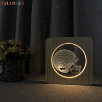 3D Effect LED Desk Lamp Wood Acrylic Lamp Rugby Cap Night Light as Kids Baby Bedroom Decor Lamp