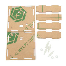 Transparent Fall Gehäuse Shell Für Upgrade DIY EC1515B DS1302 LED Elektronische Uhr Kit
