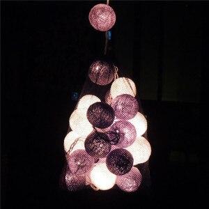 Image 4 - Thai bola linha luzes LED corda luzes de Natal luzes do festival bar pavimentação adorno adorno janela do flash
