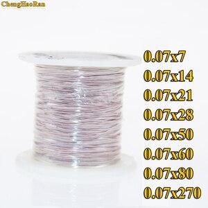 Image 1 - ChengHaoRan 1 m 0.07x14 0.07x7 0.07x28 strengen 1 meter Mine antenne Litz draad polyester zijde envelop gevlochten multi strand draad
