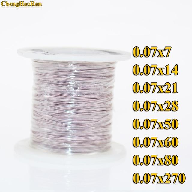 ChengHaoRan 1 m 0.07x14 0.07x7 0.07x28 strengen 1 meter Mine antenne Litz draad polyester zijde envelop gevlochten multi strand draad