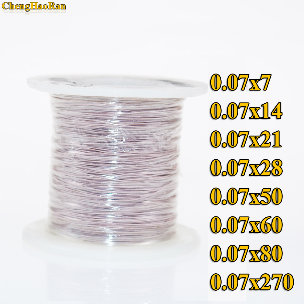 ChengHaoRan 1m 0.07x14 0.07x7 0.07x28 strands 1 meter Mine antenna Litz wire polyester silk envelope braided multi strand wire-in Computer Cables & Connectors from Computer & Office