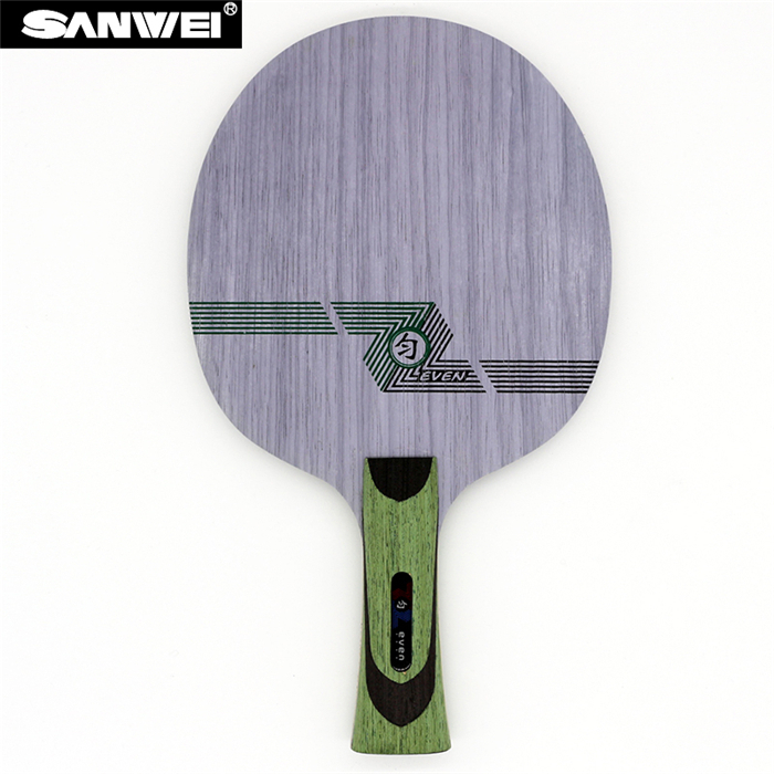 Sanwei GREEN EVEN (QY-1091, 11 Ply Even Wood, Control) Table Tennis Blade for 40+ Racket Ping Pong Bat sanwei m8 new version table tennis blade 5 ply wood with bag for training