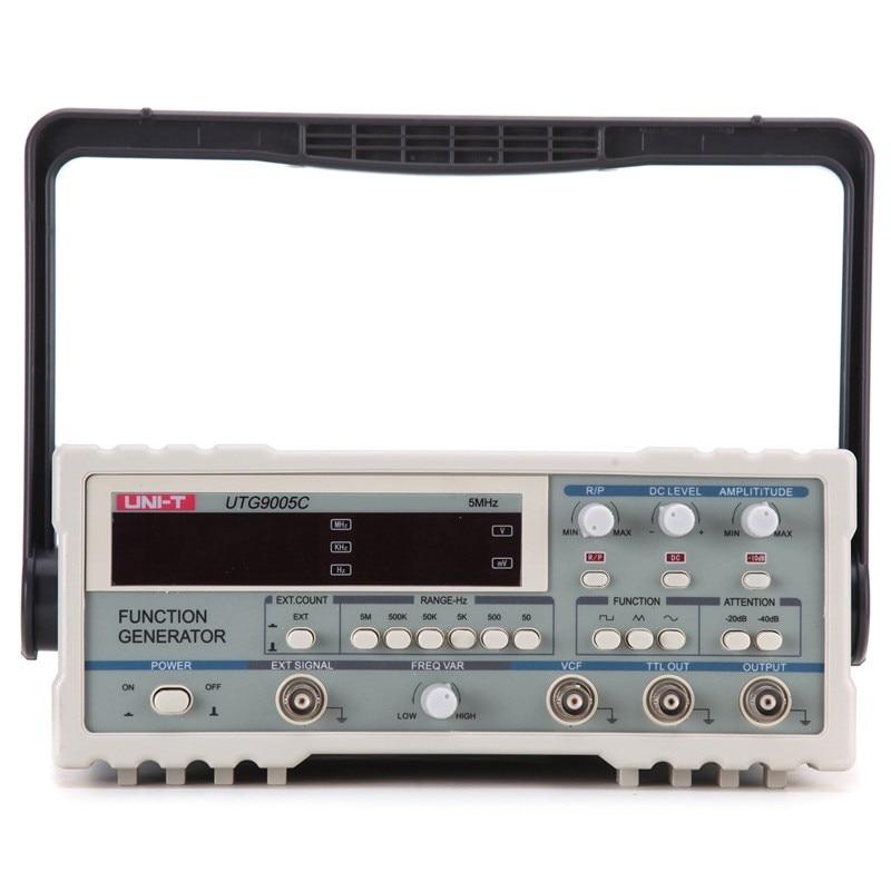 UNI-T UTG9005C Digital Function Waveform Signal Generator 0.5Hz-5MHz AC 220V Power Supply pair of chic rhinestone faux pearl leaf shape earrings for women
