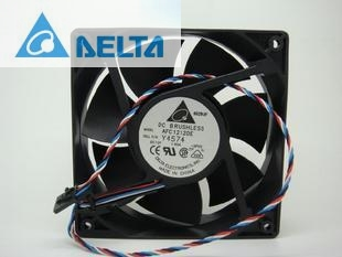 Original Delta AFC1212DE 12038 12cm 120mm DC 12V 1.6A pwm ball fan thermostat inverter server cooling fan original sanyo 9g1212e1d011 12cm 12038 12v 0 61a 3 wires alarm signal cooling fan