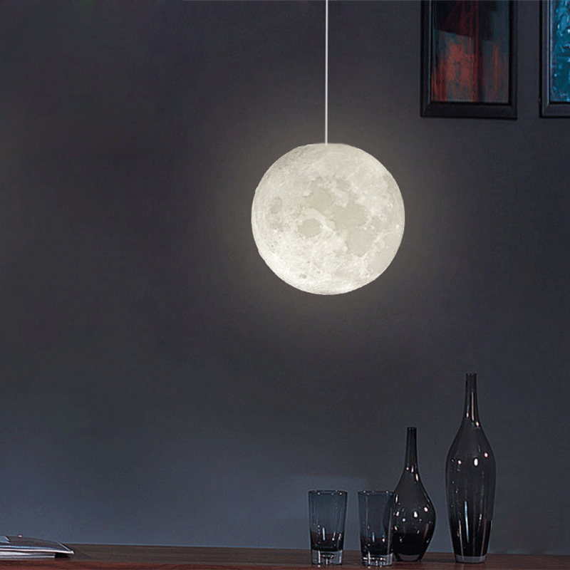 Modern creative 3D printing the moon droplight, home decoration fashion lighting lamps and lanterns pendant lights space shark 3d printing home wall hanging tapestry for decoration